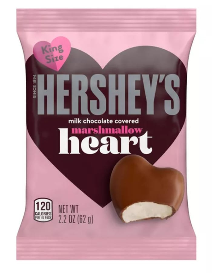 Valentines Day Snacks - marshmallow hearts