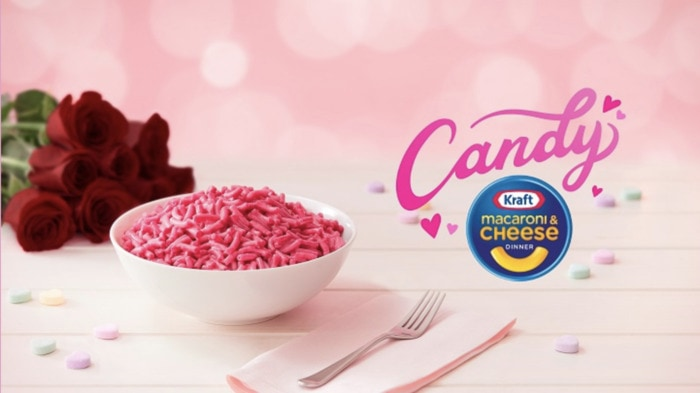 Valentines Day Snacks - candy macaroni cheese
