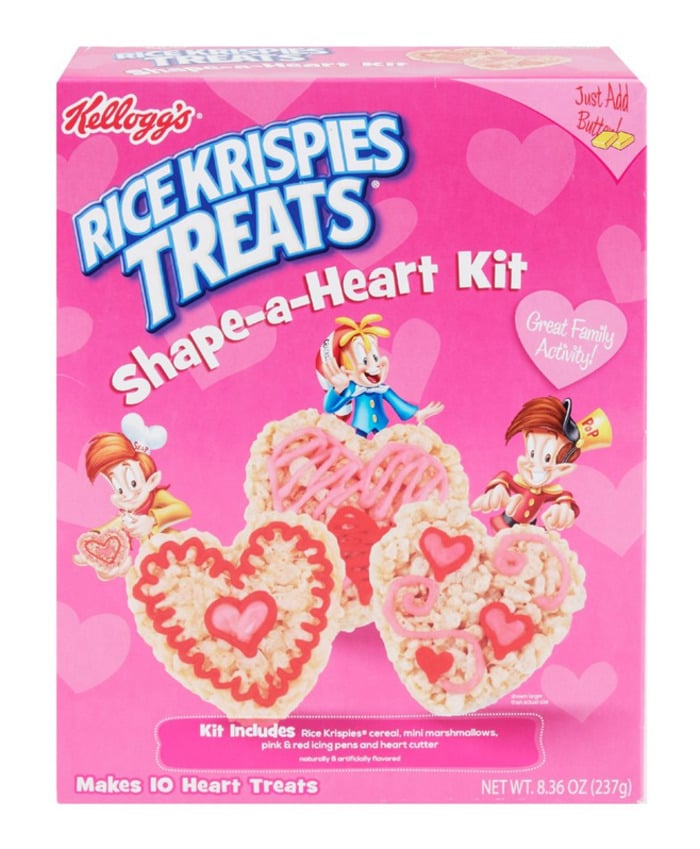 Valentines Day Snacks - rice krispies heart