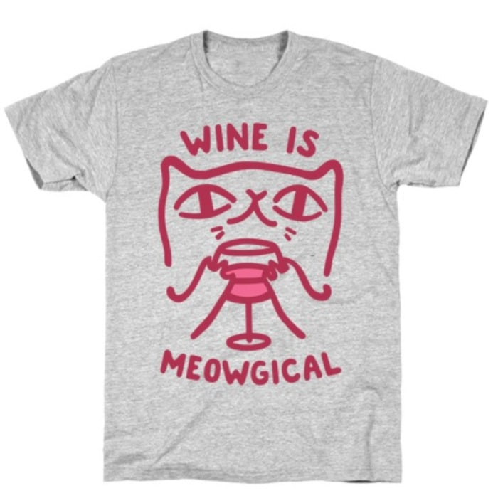 Wine Puns - wine is meowgical