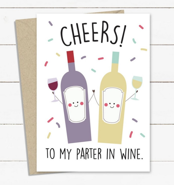 Wine Puns - partner in wine
