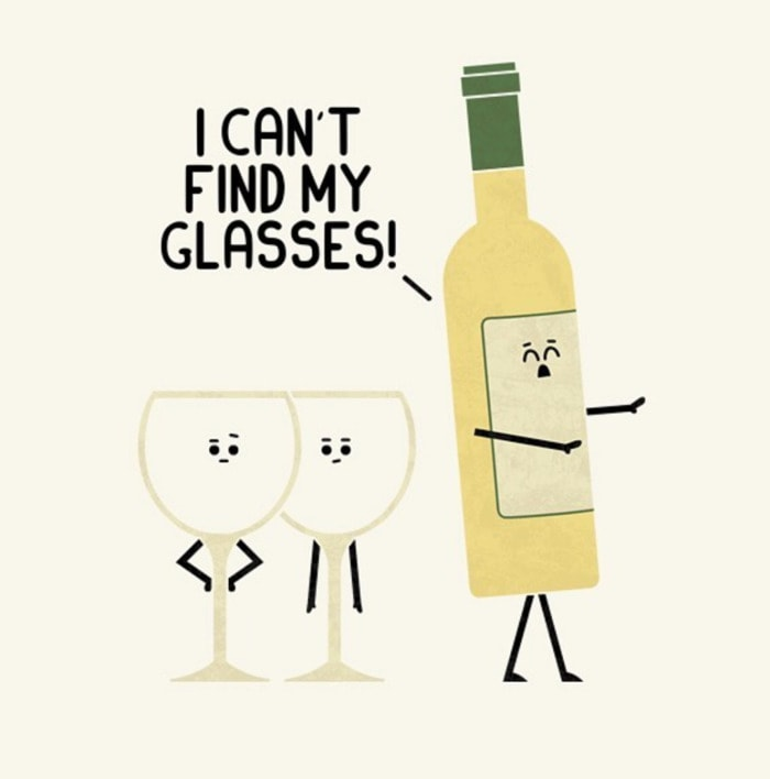 Wine Puns - can't find my glasses
