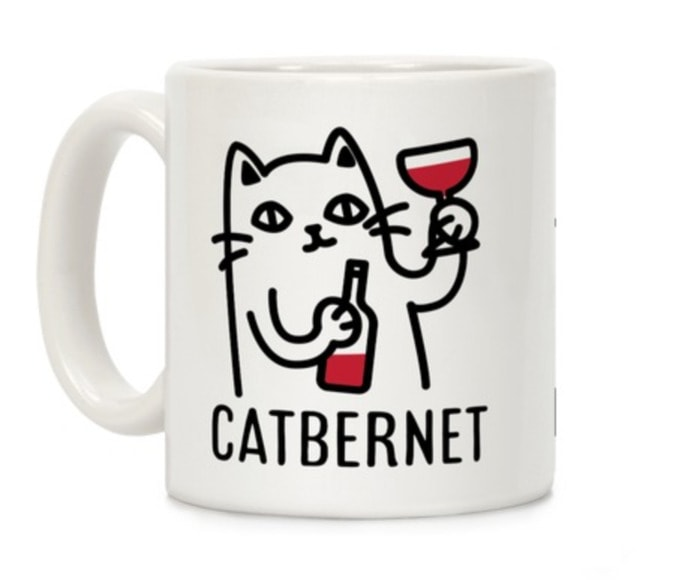 Wine Puns - Catbernet cat wine mug