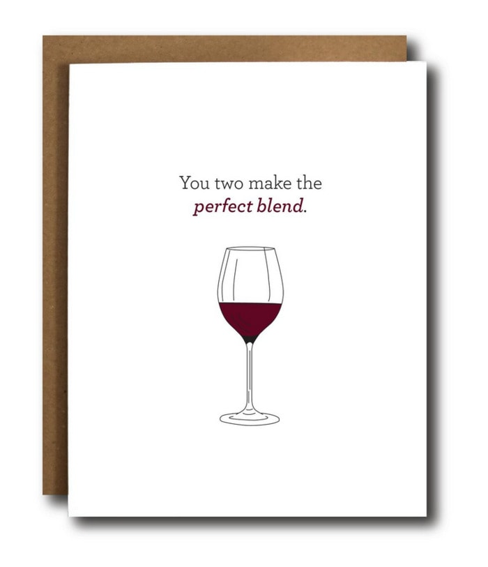 Wine Puns - you make the perfect blend