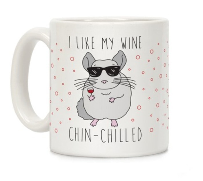 Wine Puns - like my wine chin-chilled