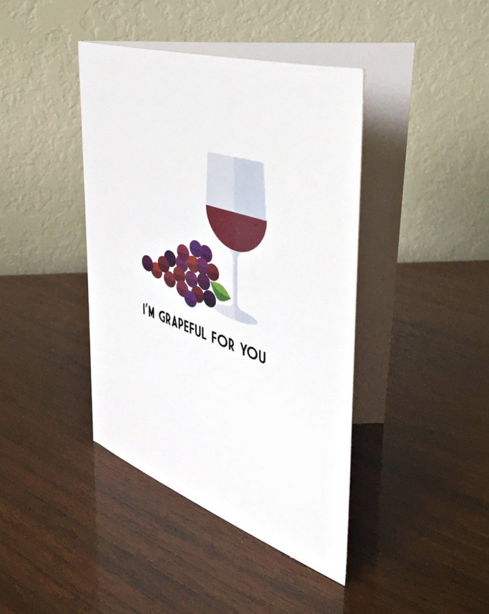 Wine Puns - grapeful for you