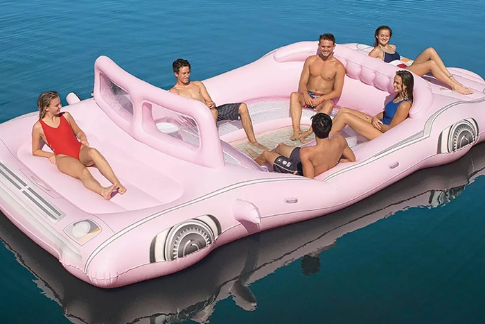 Inflatable Pink Limo - is that chad