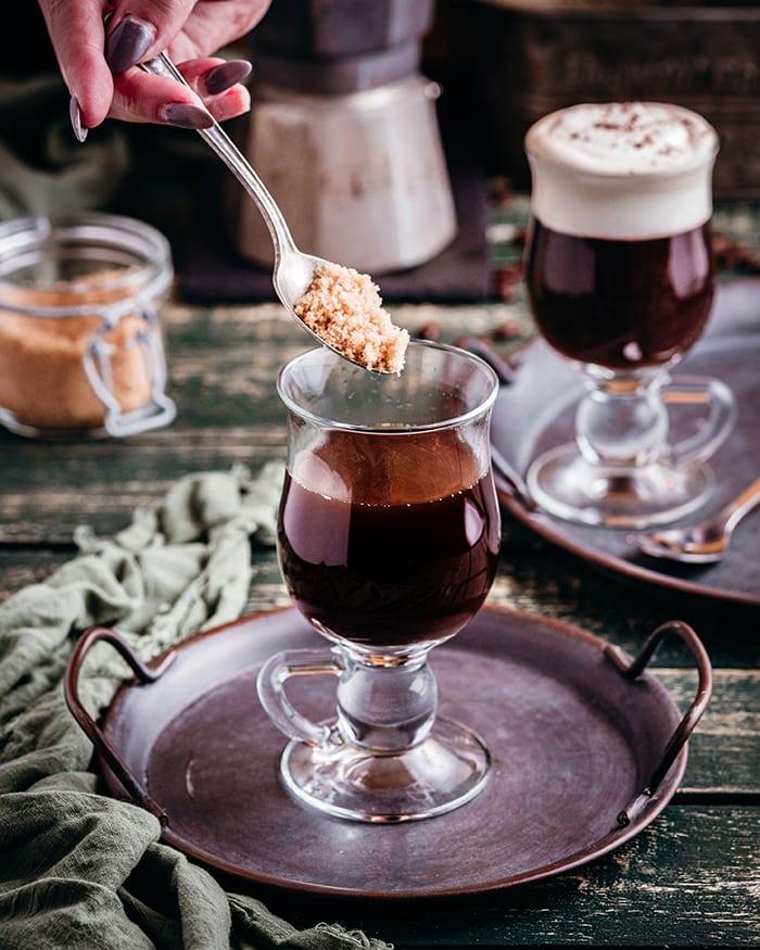 Irish Coffee - sugar added