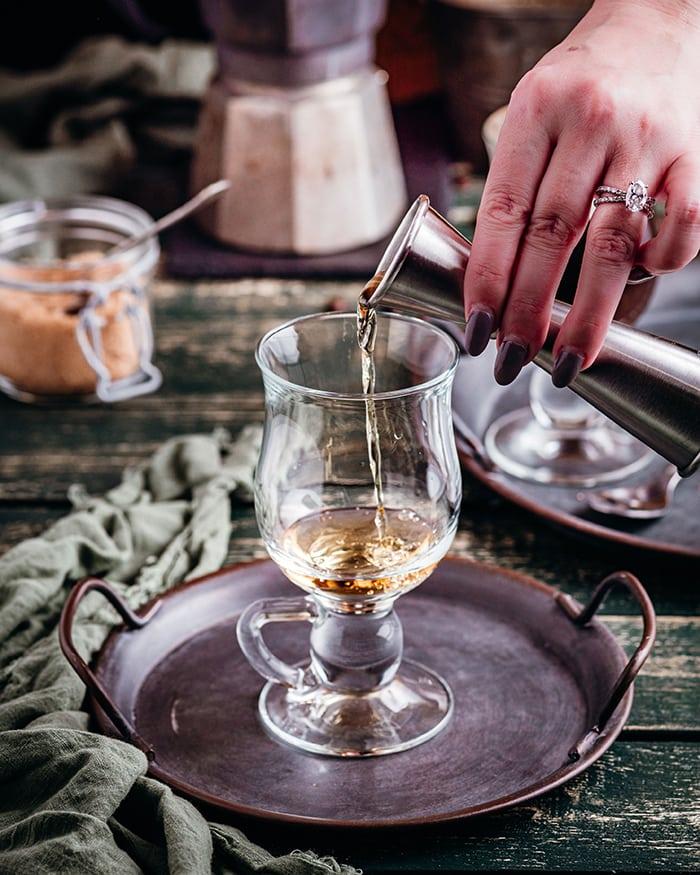 Irish Coffee - whiskey added