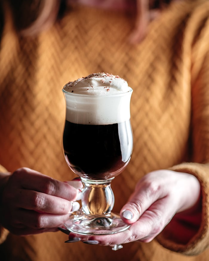 Irish Coffee - holding in hand