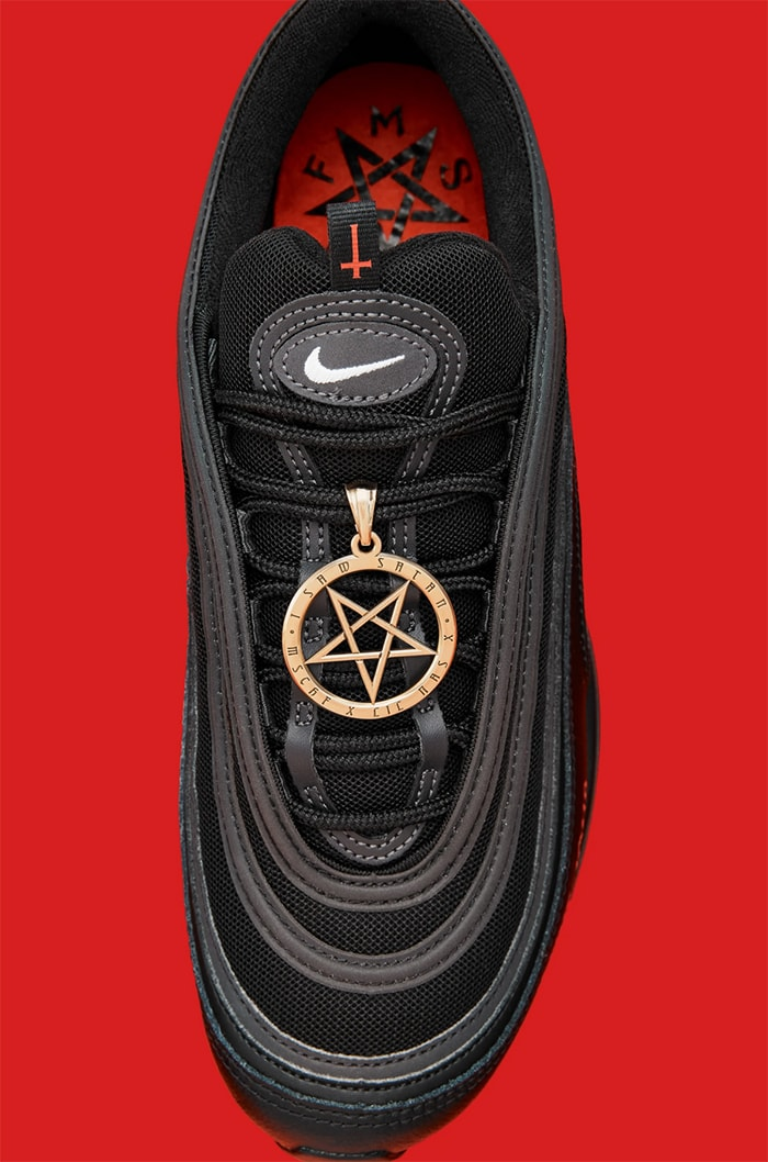 Lil Nas X Satan Shoes - top view