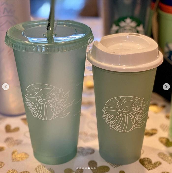 Starbucks Spring Cups - Green Geometic Tumbler and Mug