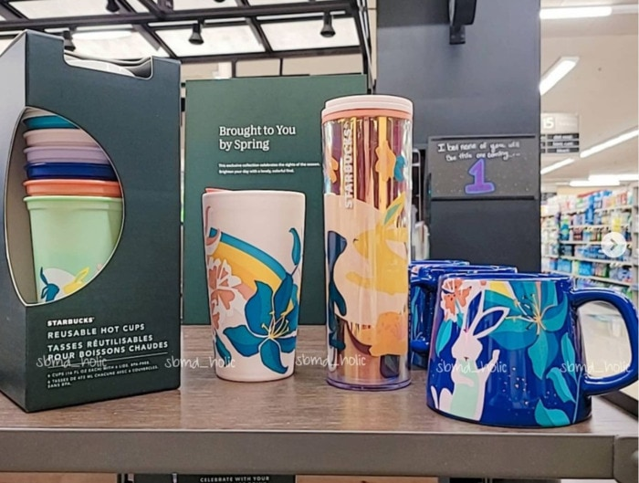 Starbucks Spring Cups - Bunny Tumblers and Hot Cups
