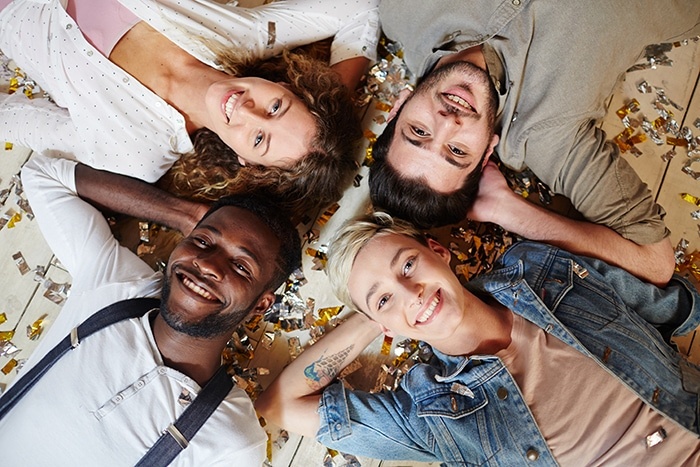 What Is Polyamory Types - Four people on floor
