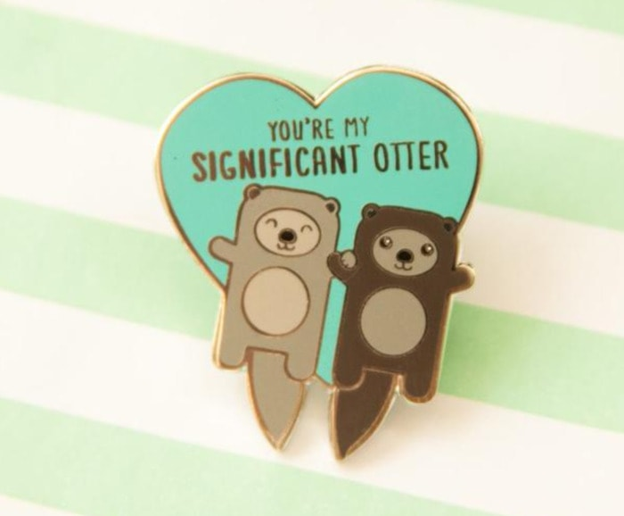 Cute Puns - You're my significant otter enamel pin
