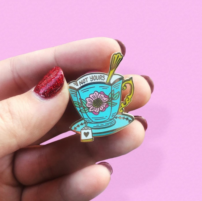 Cute Puns - Not your cup of tea enamel pin