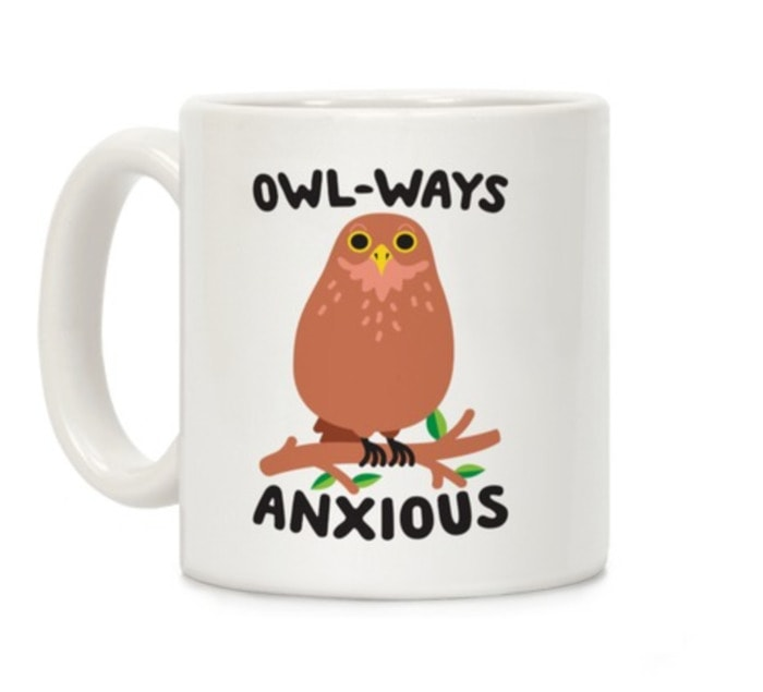 Cute Puns - Owl-ways anxious owl mug