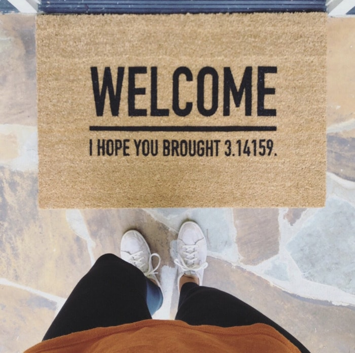 Pie Puns - Welcome mat I hope you brought pie