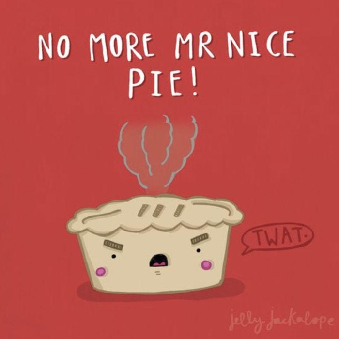 Pie Puns - no more Mr. Nice Pie