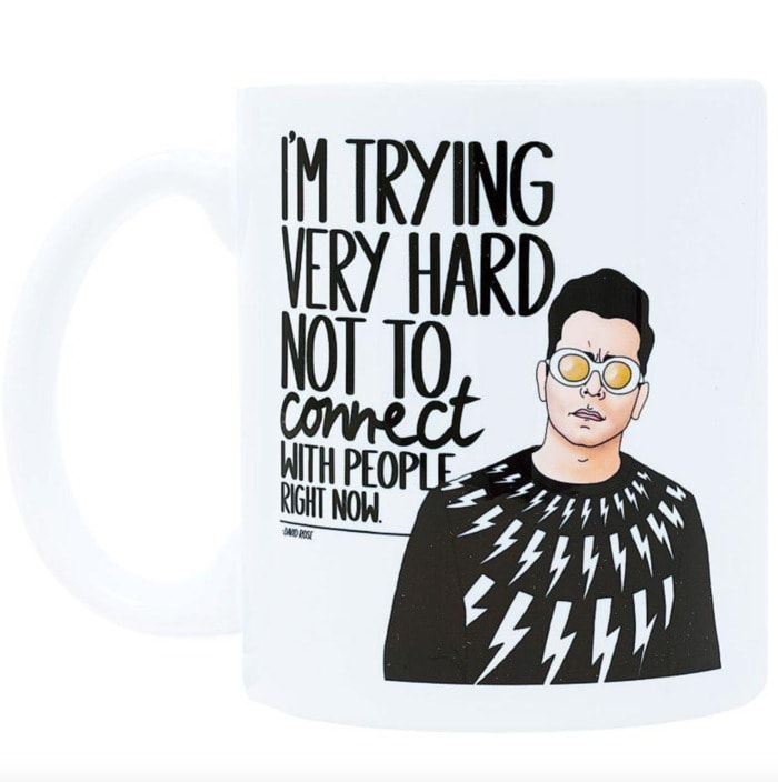 Schitt's Creek Gifts - Trying very hard not to connect with people mug
