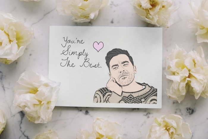 Schitt's Creek Gifts - You're simply the best greeting card