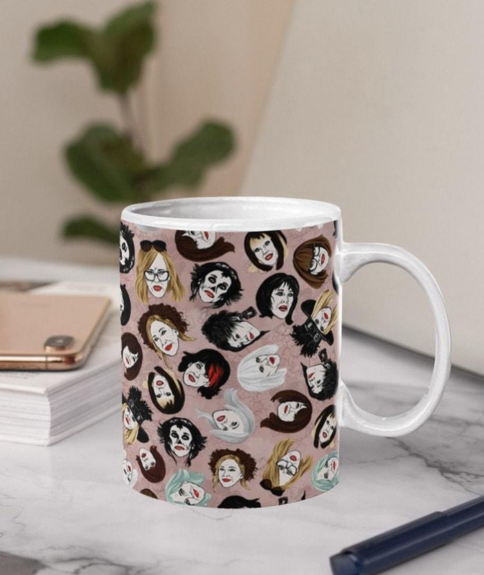 Schitt's Creek Gifts - Moira Rose wig collection mug