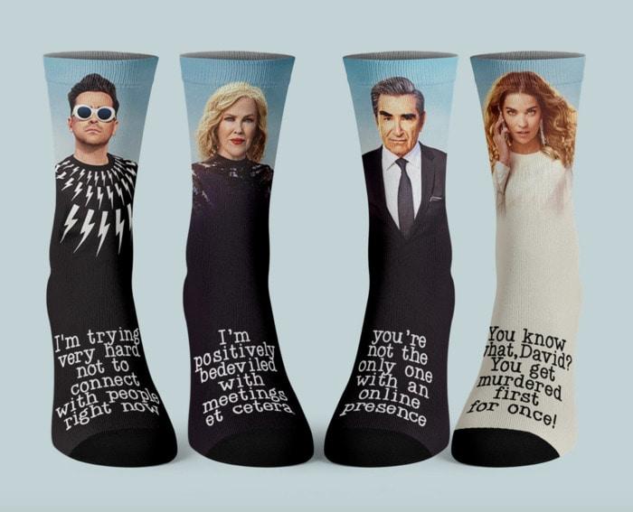 Schitt's Creek Gifts - Rose family quote socks