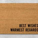 Schitt's Creek Gifts - Best Wishes Warmest Regards doormat