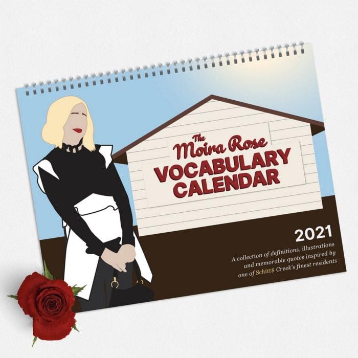 Schitt's Creek Gifts - Moira Rose Vocabulary calendar 2021