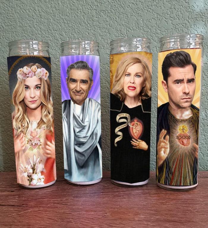 Schitt's Creek Gifts - Rose family prayer candles