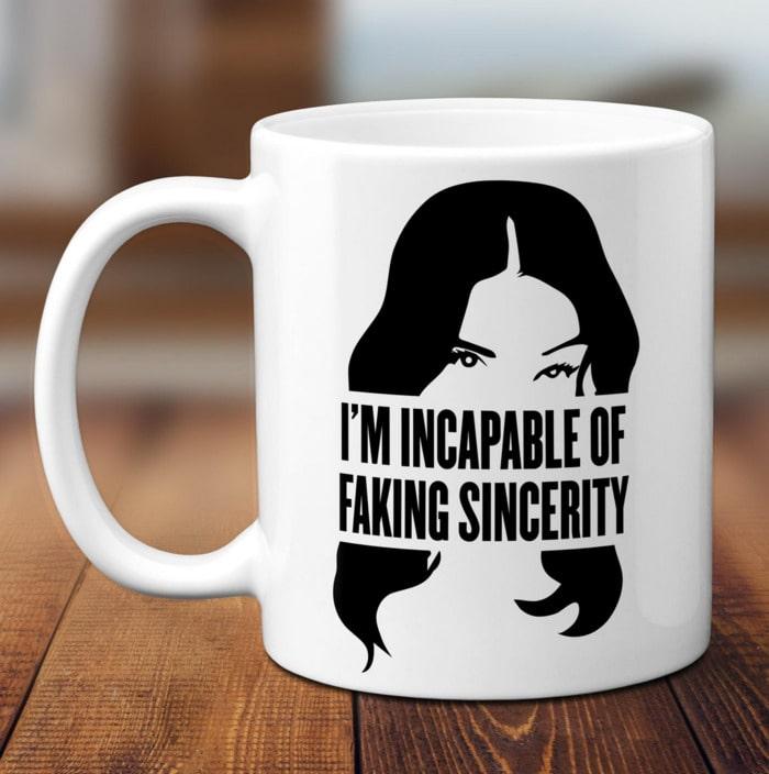 Schitt's Creek Gifts - I'm incapable of faking sincerity Stevie mug
