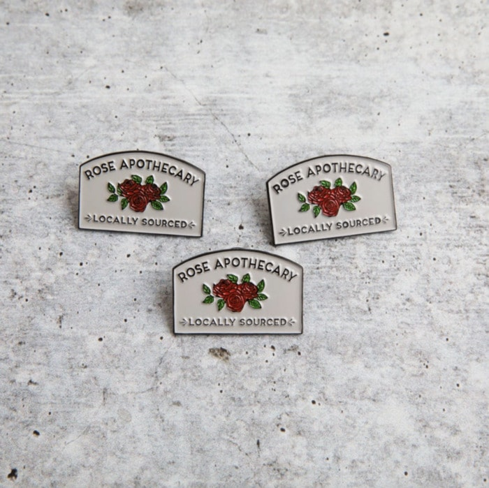 Schitt's Creek Gifts - Rose Apothecary lapel pins