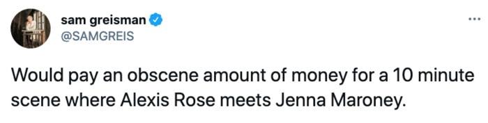 Schitt's Creek memes - Alexis Rose meets Jenna Maroney