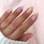 Spring Nails - mini egg heart nails pastel