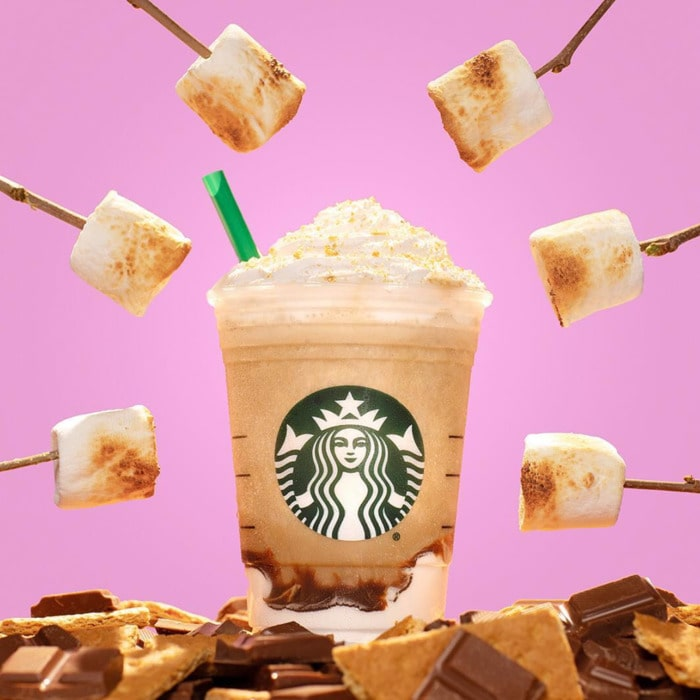 Starbucks Girl Scout Drinks - smore marshmallow frappuccino