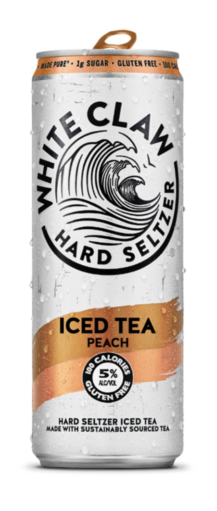 White Claw Iced Tea - peach flavored hard seltzer tea
