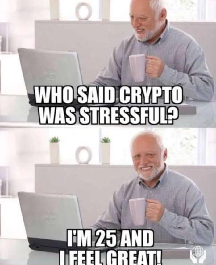 Crypto Memes - Stressful