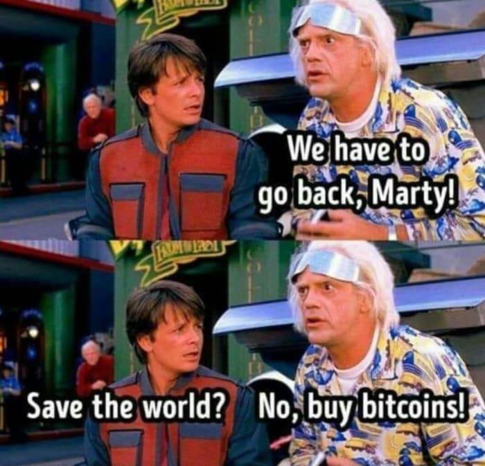Crypto Memes - Back to the Future
