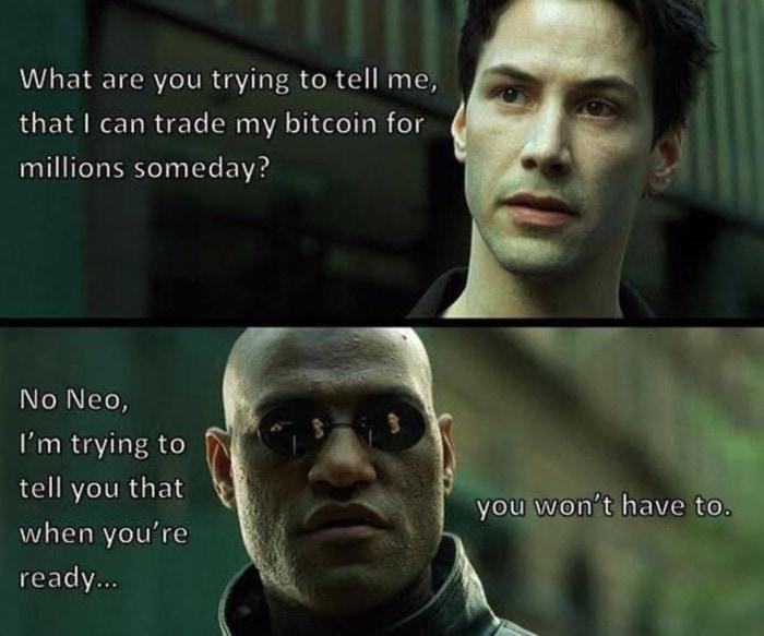 Crypto Memes - Matrix Neo Morpheus