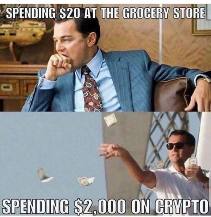 Crypto Memes - Wolf of Wall Street Leonardo DiCaprio