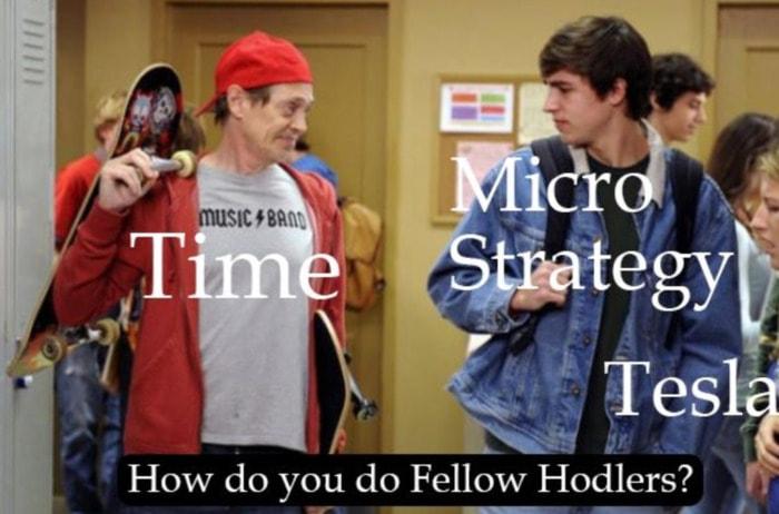 Crypto Memes - Fellow Holders Time Microstrategy Tesla
