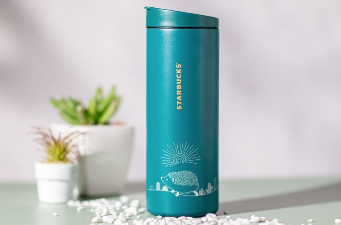 Starbucks Happy Hedgehog Collection - Teal Blue Tumbler