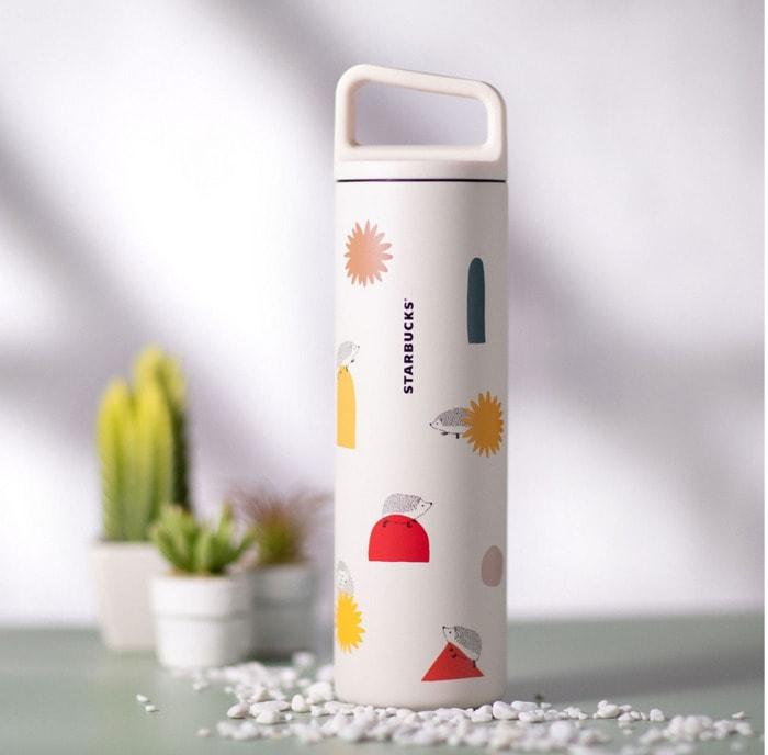 Starbucks Happy Hedgehog Collection - White Sunflower Tumbler