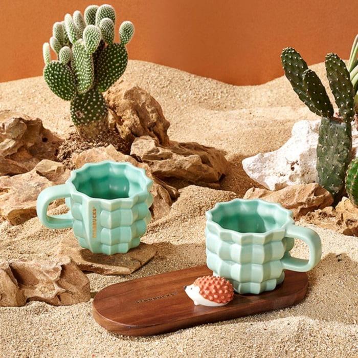 Starbucks Happy Hedgehog Collection - Cactus Espresso Cups