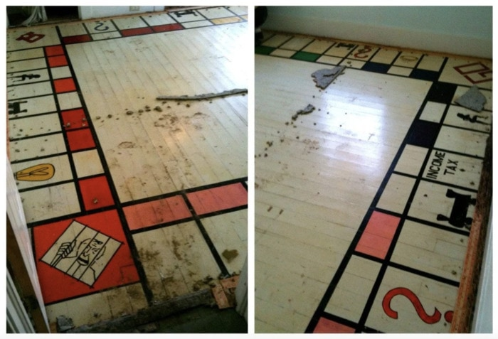 Hidden Things Unexpected - monopoly board under carpet