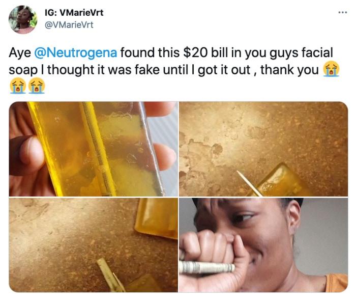 Hidden Things Unexpected - $20 in neutrogena soap