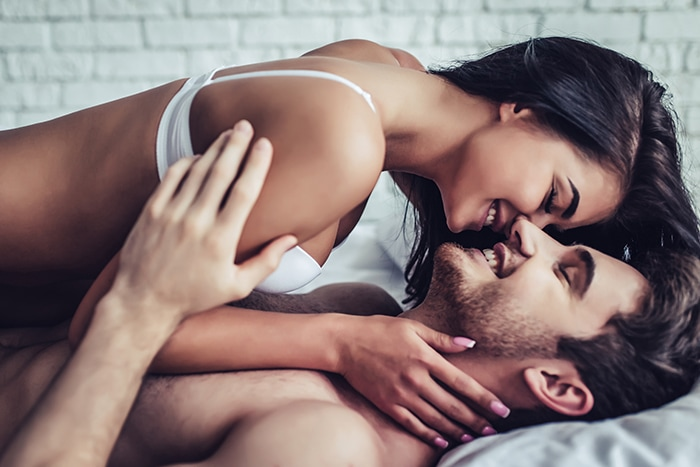 How to Make a Guy Come Faster In Bed - couple in bedroom