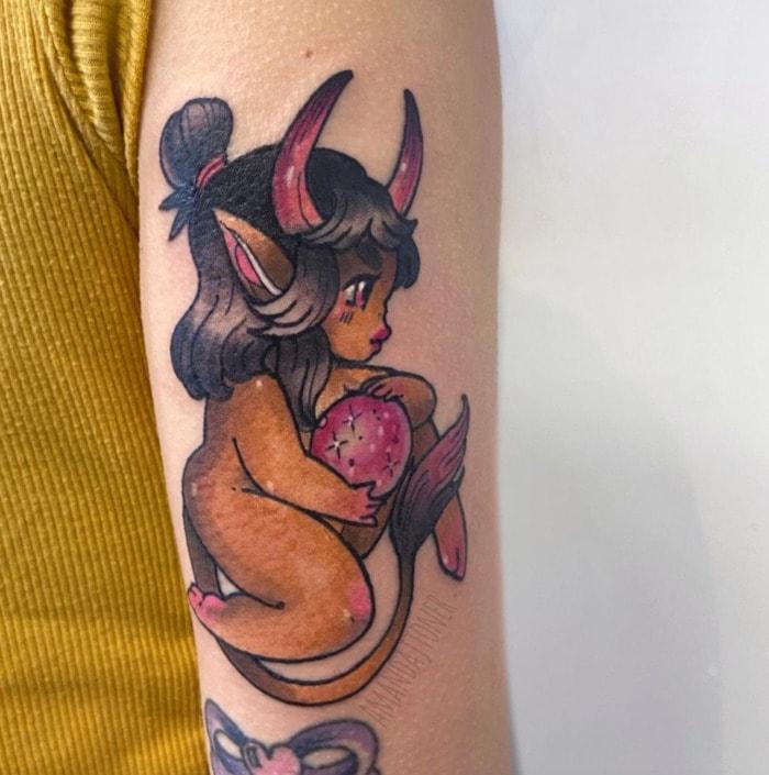 Taurus Tattoos - little Taurus babe