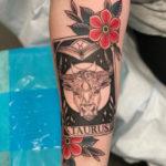 Taurus Tattoos - Bull tarot card