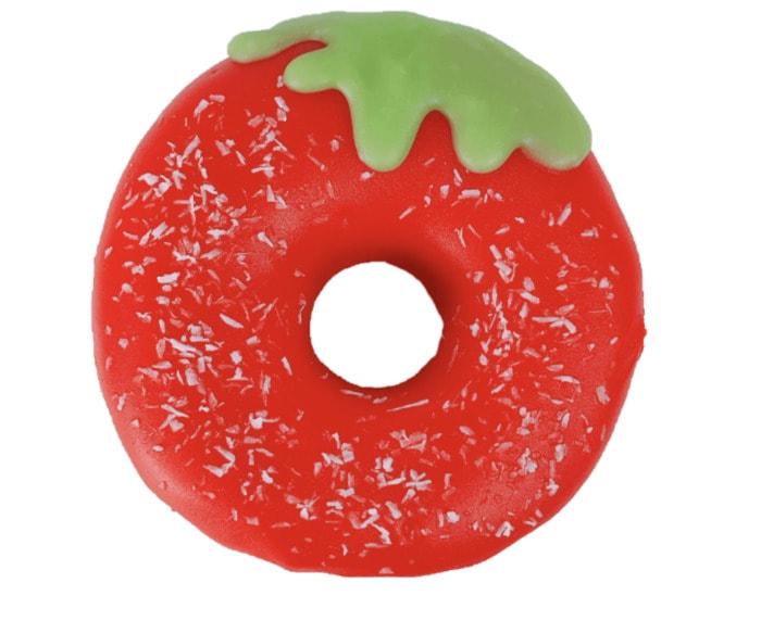 Vegan Dunkin Donuts - strawberry red doughnut